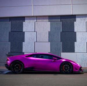Пурпурный Lamborghini Huracan Razmig от RevoZport в Дубае