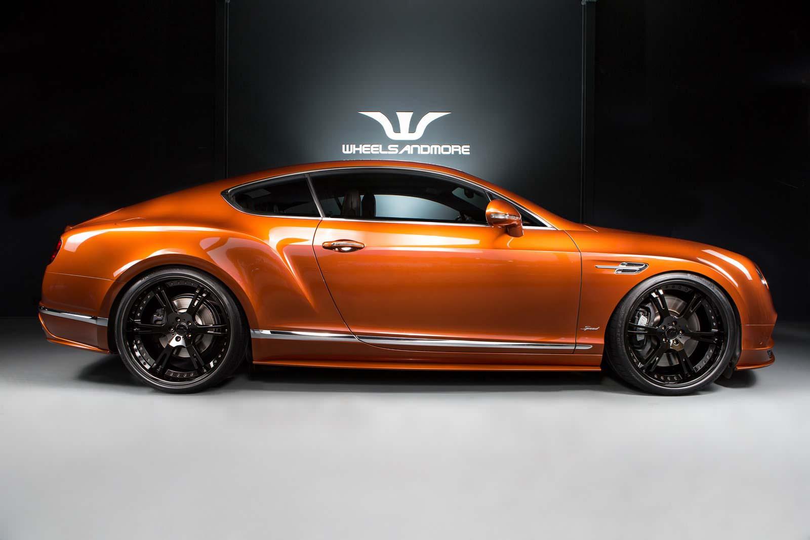 Оранжевый Bentley Continental GT Speed. Тюнинг от WAM