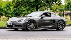 Новый Porsche 718 Cayman GTS на дорожных тестах