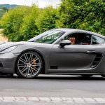 Новый Porsche 718 Cayman GTS на дорожных испытаниях