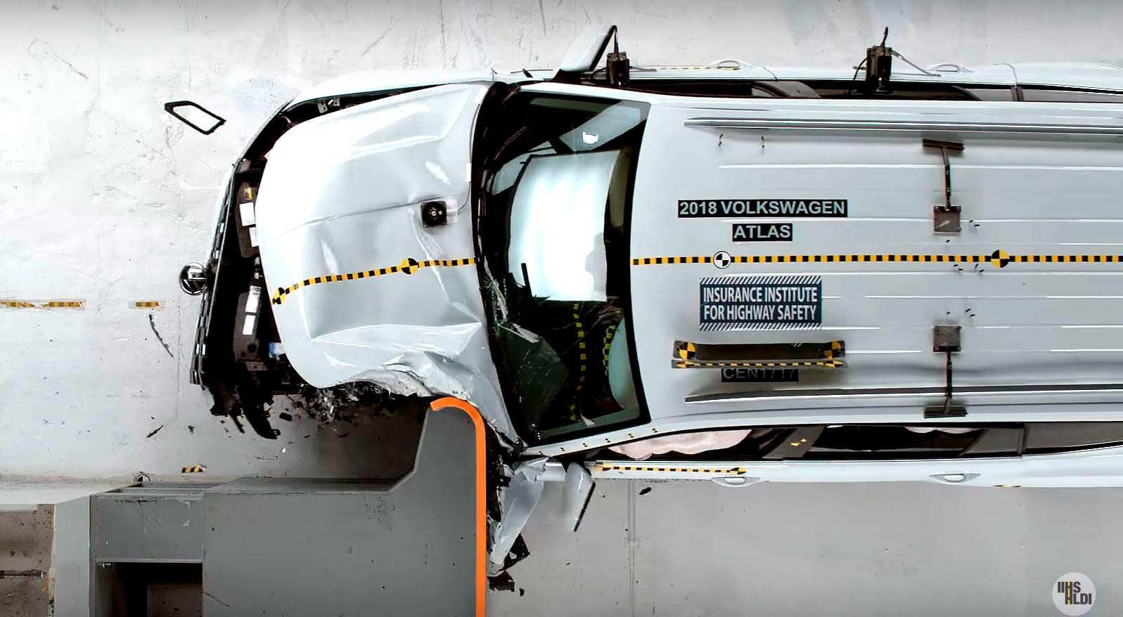 Краш-тест 2018 Volkswagen Atlas от IIHS