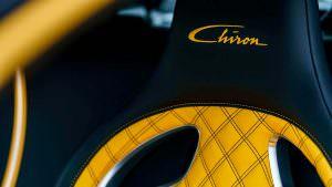 Жёлто-чёрные сиденья Bugatti Chiron