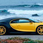 Жёлто-чёрный Bugatti Chiron в США