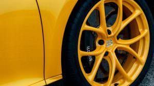 Жёлтые колеса Bugatti Chiron