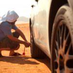 Прототип Porsche Cayenne на экстрим-тестах в пустыне