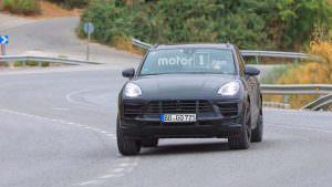 Шпионские фото Porsche Macan 2018 на дорожных тестах
