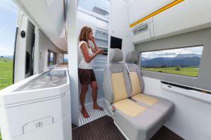 VW California XXL: раздвижная секция туалета в кемпере