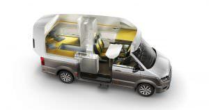 Конфигурация салона кемпера Volkswagen California XXL