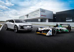 Электрический болид Audi E-Tron FE04 и Audi E-Tron Sportback