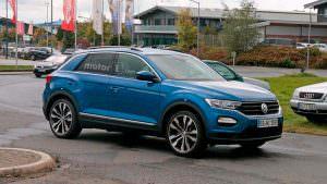 Volkswagen T-Roc R на дорожных испытаниях