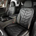 Кожаный чёрный салон Bentley Bentayga Le Mans Edition