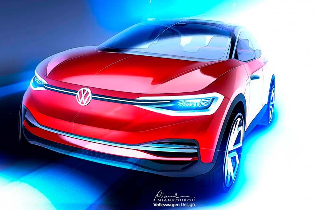 Кроссовер Volkswagen I.D. Crozz Concept перед IAA 2017