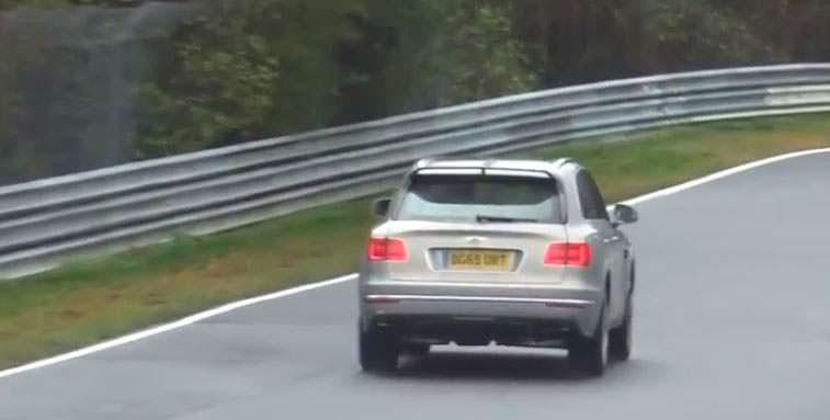 Внедорожник Bentley Bentayga Hybrid на тестах в Нюрбургринге