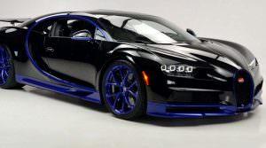 Чёрно-синий Bugatti Chiron