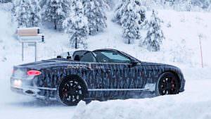 Новый Bentley Continental GTC на испытаниях