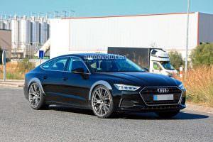 Фото Audi RS7 Sportback 2019 на испытаниях