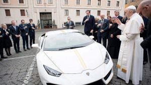 Lamborghini Huracan: автомобиль Папы Франциска