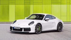 Новая Porsche 911 Hybrid, неофициальный дизайн от Motor1.com