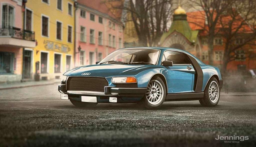 Ретро-дизайн Audi R8