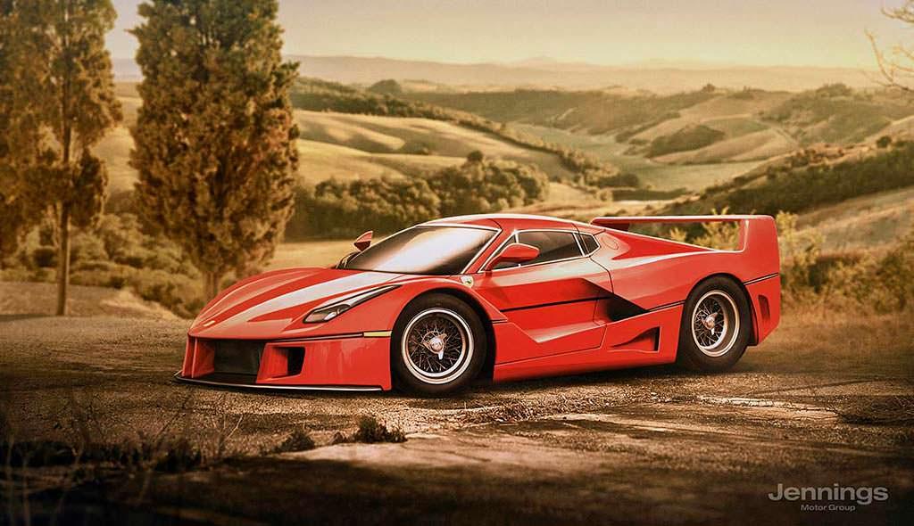 Ретро-дизайн Ferrari LaFerrari