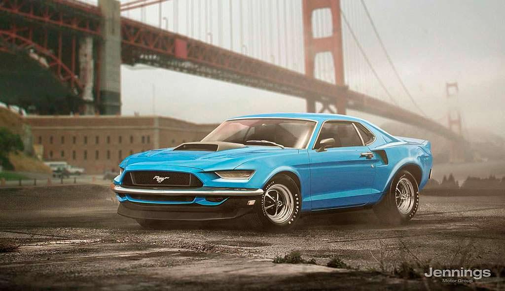 Ретро-дизайн Ford Mustang