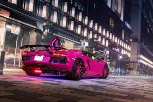 Розовый суперкар Lamborghini Aventador LP720-4
