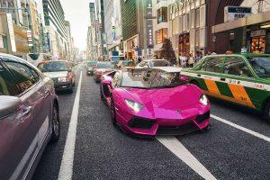 Розовая Lamborghini Aventador LP720-4 50th Anniversary