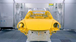 Покраска Porsche 911 Turbo на заводе