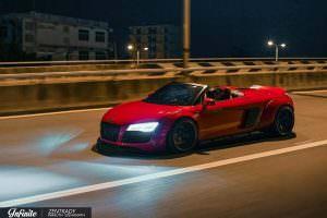 Тюнинг Audi R8 Spyder в обвесе Liberty Walk