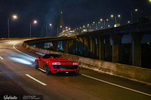Родстер Audi R8 Spyder в обвесе Liberty Walk
