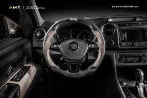 Кожаный руль Volkswagen Amarok от Pickup Design