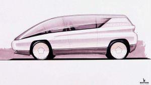 Наброски Lamborghini Genesis от Bertone. 1988 год
