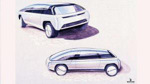 Рисунок Lamborghini Genesis от Bertone. 1988 год