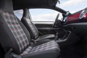 Клетчатые сиденья Volkswagen Up! GTI