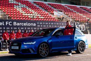 Новые автомобили Audi для игроков ФК «Барселона» на 2018 год
