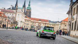 Ралли-кар Skoda Fabia R5 в Праге