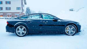 Зимние тесты мула Audi RS7 Sportback второго поколения