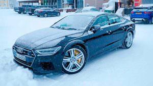 Мул Audi RS7 Sportback 2019 на зимних испытаниях