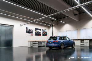 Синий Audi SQ7 от ABT Sportsline и Vossen Wheels
