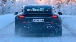 Фальшивые выхлопные трубы Porsche Mission E