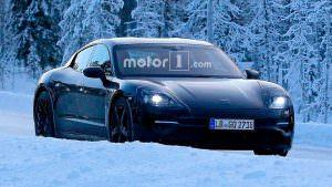 Зимние тесты Porsche Mission E