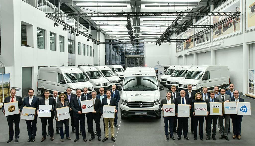 Первые электро-фургоны Volkswagen e-Crafter