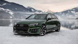 2018 Audi RS4 Avant и Швейцарские Альпы зимой