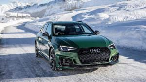 Новое поколение Audi RS4 Avant и Швейцарские Альпы зимой