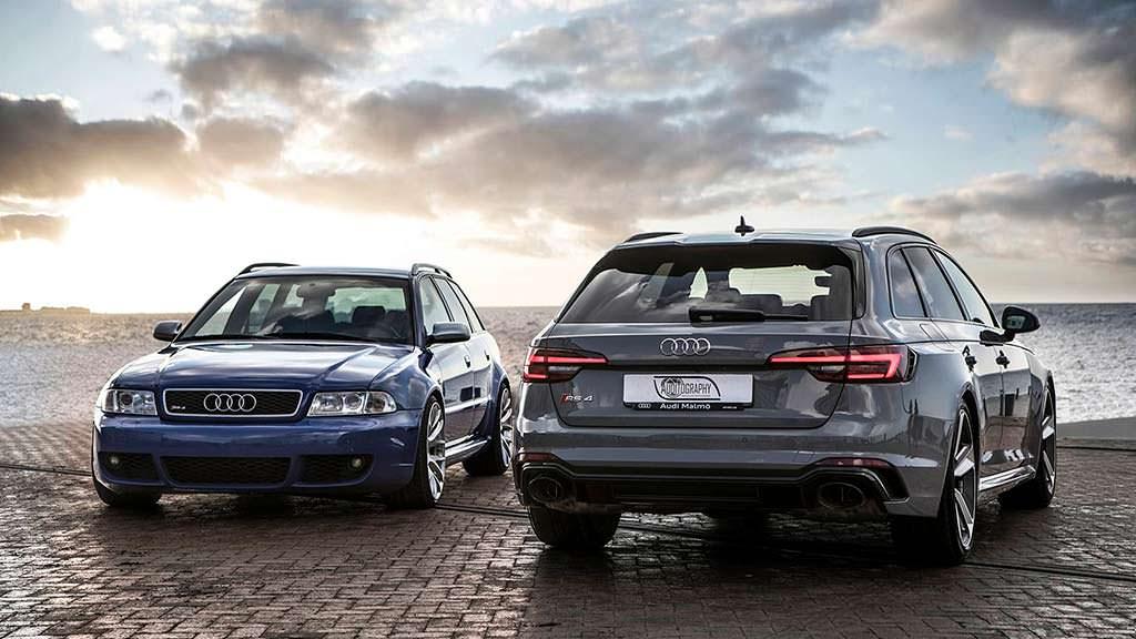 2001 Audi RS4 Avant B5 и 2018 Audi RS4 Avant B9