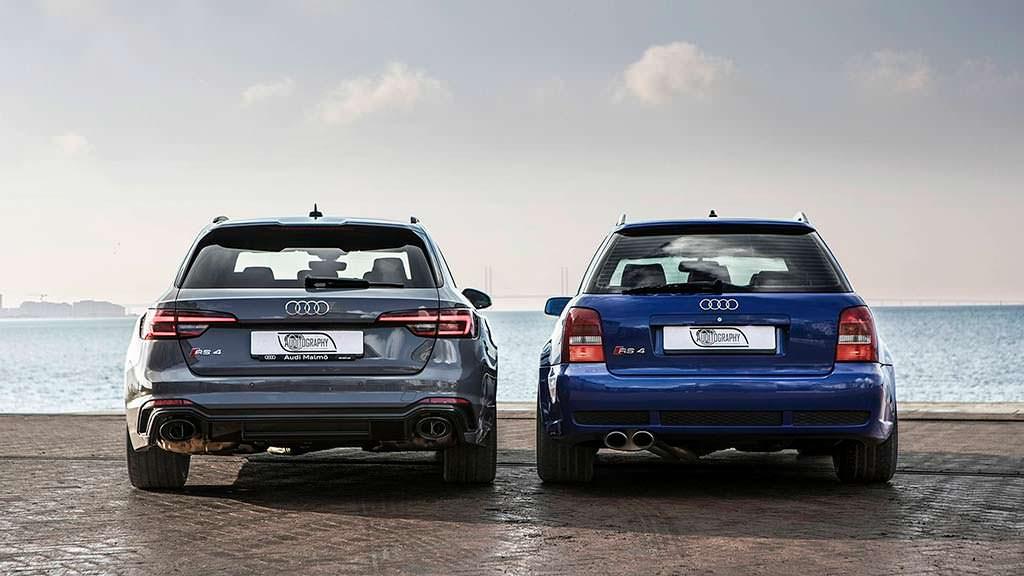Фото Audi RS4 Avant B5 и Audi RS4 Avant B9