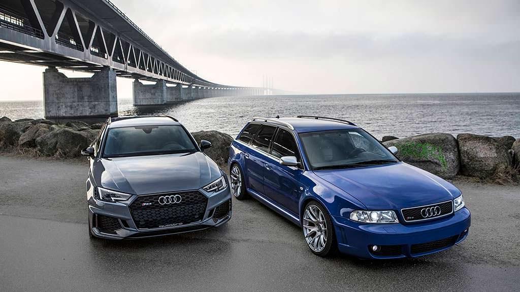 Первая Audi RS4 Avant B5 и последняя Audi RS4 Avant B9