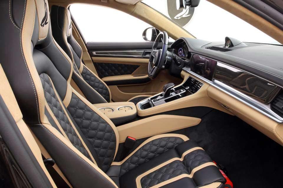 Двухцветный салон Porsche Panamera Turbo S E-Hybrid от TopCar