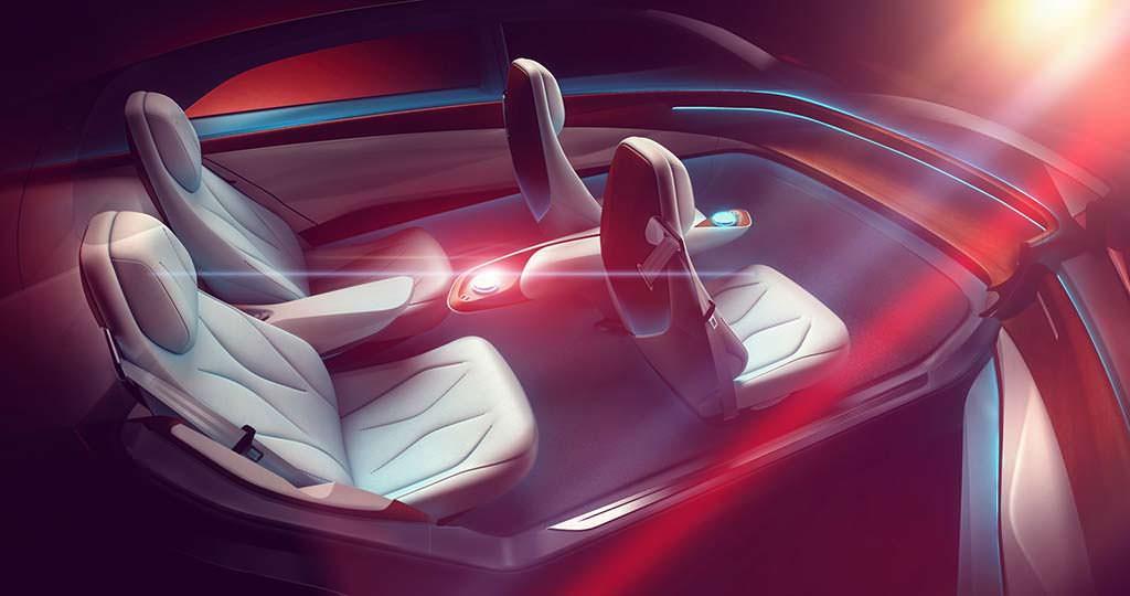 Наброски салона Volkswagen ID Vizzion Concept