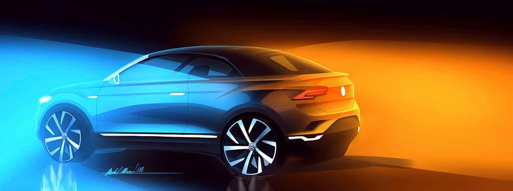 Официальный эскиз Volkswagen T-Roc Cabriolet